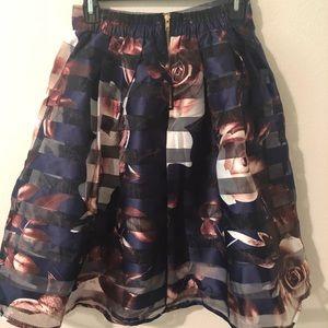 Skirts - Flower print skirt